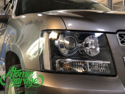 Chevrolet Tahoe GMT900, установка линз Bi-led Optima Pro + восстановление стекол