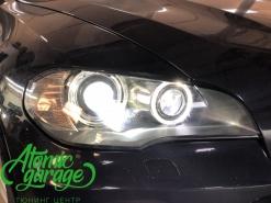 BMW X5 E70, замена линз на Bi-led Optima Pro