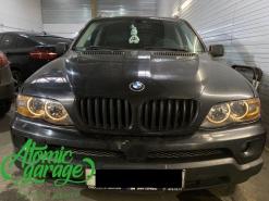 BMW X5 E53, замена линз на Bi-led X-bright + восстановление стекол