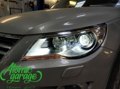 Volkswagen Tiguan, замена левого стекла фары + ремонт корпуса