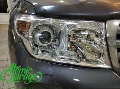 Toyota Land Cruiser 200, установка линз Bi-led Optima Pro + замена стекла фары