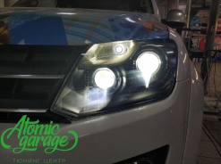 Volkswagen Amarok, установка 4-х линз Bi-led Optima + + DRL ProBright Pulsar