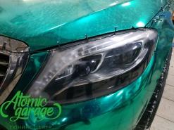 Mercedes W222, ремонт запотевания и расклейка кузова