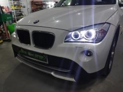 BMW X1 E84, замена линз на Hella 3R + новые кольца