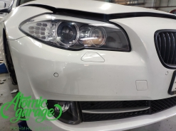 BMW 5 F10, детейлинг фар и птф