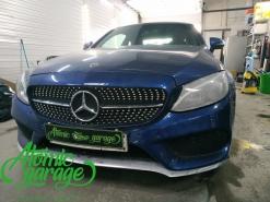 Mercedes W205, замена левого стекла фары