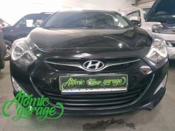 Hyundai I40, замена плат управления штатных ходовых огней