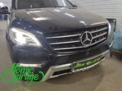 Mercedes ML W166, замена штатных линз на Bi-led Optima Adaptive