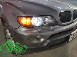 BMW X5 E53 рестайлинг, замена стекол фар