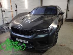 BMW M5 F90 Stingray, оклейка кузова в матовый полиуретан Hexis