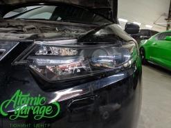 Honda Accord 8, замена стекол фар + покраска масок фар