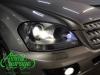 Mercedes ML W164, замена штатных линз на Bi-led Diliht Triled + покраска мокрый асфальт