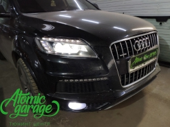 Audi Q7, замена линз на Bi-led Diliht Triled + замена правого стекла