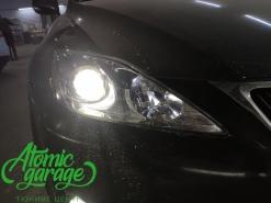 Lexus IS250, замена линз на Bi-Led Diliht Triled + восстановление стекол
