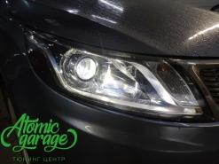 Kia Rio, установка линз Bi-Led X-bright и новые стекла фар