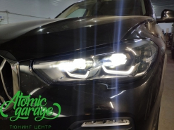 BMW X5 G05, установка вместо фальш линз Bi-Led Diliht Triled + покраска реснички