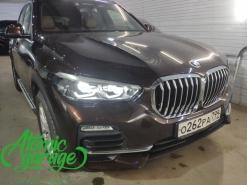 BMW X5 G05, установка вместо фальш линз Bi-Led Diliht Tendel