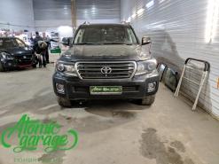 Toyota Land Cruiser 200, замена линз на Bi-led Diliht Triled + новые стекла фар