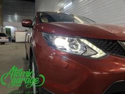 Nissan Qashqai J11, замена штатных линз на Diliht Triled