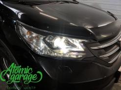 Honda CR-V 4, замена линз на Bi-Led Diliht Triled + восстановление стекол