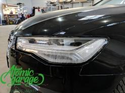 Audi A6 C7 рестайлинг, замена стекол + покраска масок фар