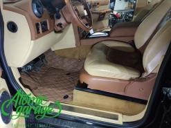 Hummer H2, пошив 3D кожаных ковров в салон