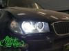 BMW X3 E83, установка линз Bi-led Diliht Tendel + Led ангельские кольца
