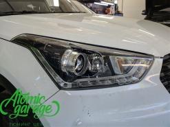 Hyundai Creta, замена правого стекла фары