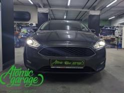 Ford Focus 3 рестайлинг, линзы Bi-led Diliht Tendel + Probright Base