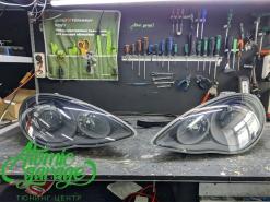 Porsche Panamera, покраска масок фар + DRL