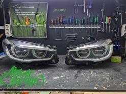 BMW 5 GT F07, замена стекол фар