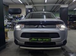Mitsubishi Outlander 3, установка линз Bi-led Diliht Triled