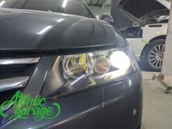 Honda Accord 7, замена линз на Bi-led Diliht Tendel + восстановление стекол