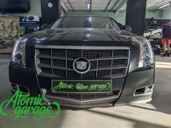 Cadillac CTS II, замена линз на Hella 3R + восстановление стекол