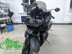 Мотоцикл BMW K1300R, установка линзы Bi-led Diliht Tendel + покраска маски фары