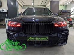 BMW X7, тюнинг фар + откидные рамки