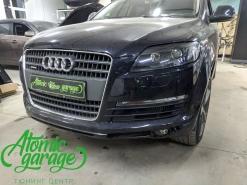 Audi Q7, замена линз на Bi-led Diliht Triled + покраска масок фар + восстановление стекол
