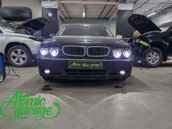 BMW 7 E66, установка 4-х линз Aozoom + новые кольца
