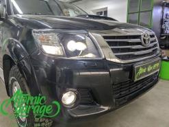 Toyota Hilux, установка линз Bi-led Diliht Triled + лампы Probright