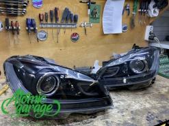 Mercedes w204, замена стекол + корпус левой + покраска масок фар