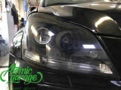 Mercedes GL X164, замена штатных линз на Hella 3R + покраска масок фар