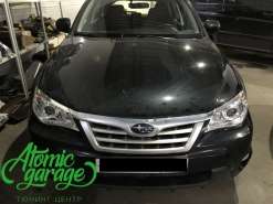 Subaru Impreza GE, чистка и восстановление стекол фар