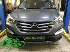 Hyundai Santa Fe DM, ремонт штатных DRL