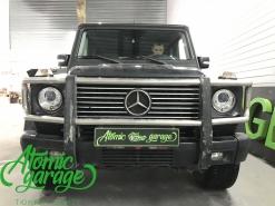 Mercedes Gelandewagen W463, замена штатных линз на Hella 3R