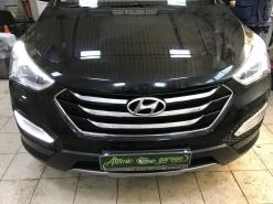 Hyundai Santa Fe III, ремонт штатных ДХО