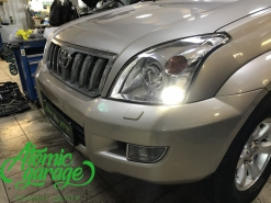 Toyota Land Cruiser Prado 120, установка линз Bi-led Optima Pro + Probright Alpha