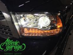 Dodge Ram 1500, замена штатных линз на Bi-led Optima Pro