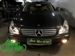 Mercedes w219, комплексная чистка и восстановление стекол фар