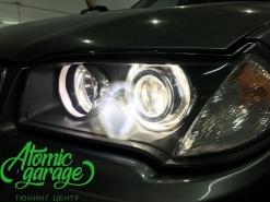 BMW X3 E83, установка линз Bi-led Optima Adaptive + восстановление стекол