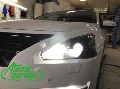 Nissan Teana J33, замена штатных линз на Bi-led GTR mini
